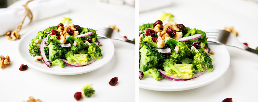 broccoli salad walnut cranberry image healthy