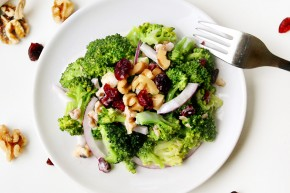broccoli walnut salad cranberry kid friendly recipe healthy image