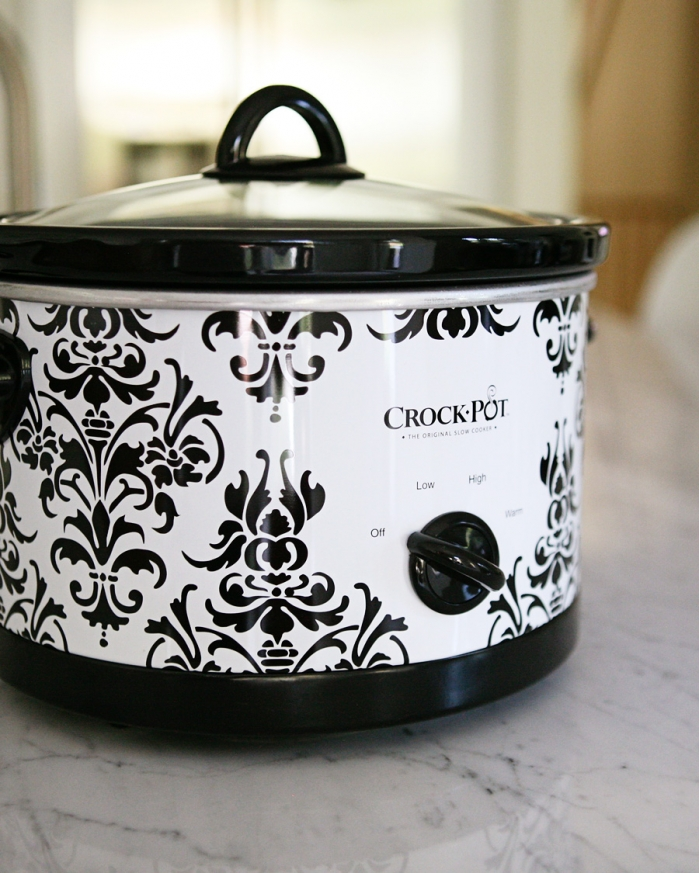 cute patterned crock pot vegan recipe