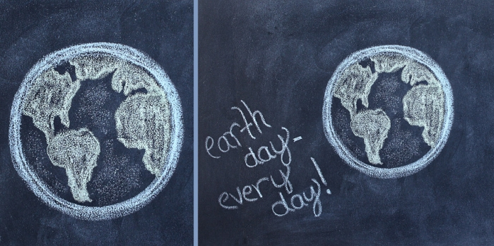 earth day chalk drawing clip art ideas