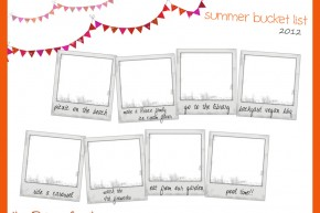 summer fun printable free bunting bucket list