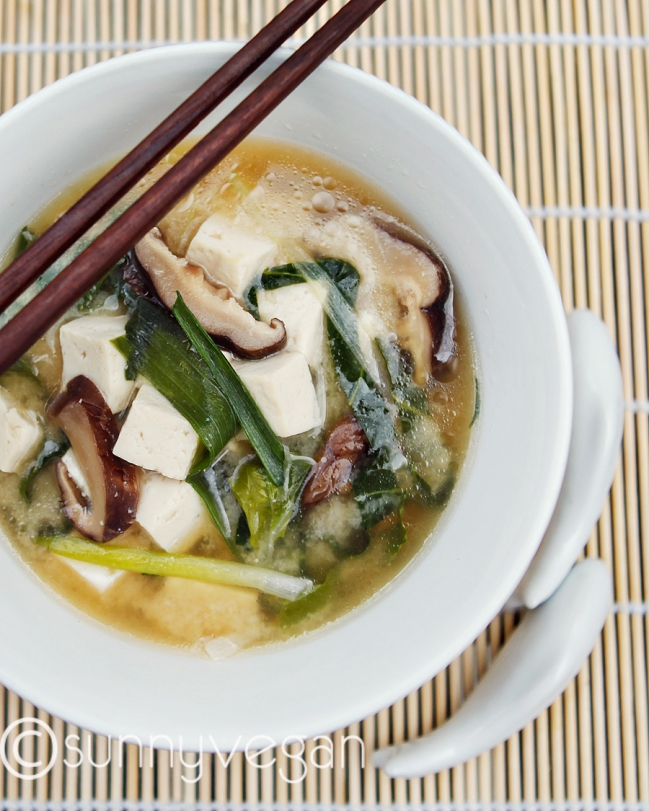 how to cut bok choy for miso soup