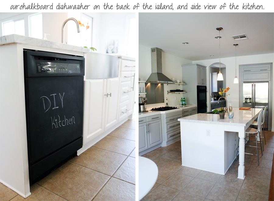 chalkboard dishwasher appliance kitchen diy paint