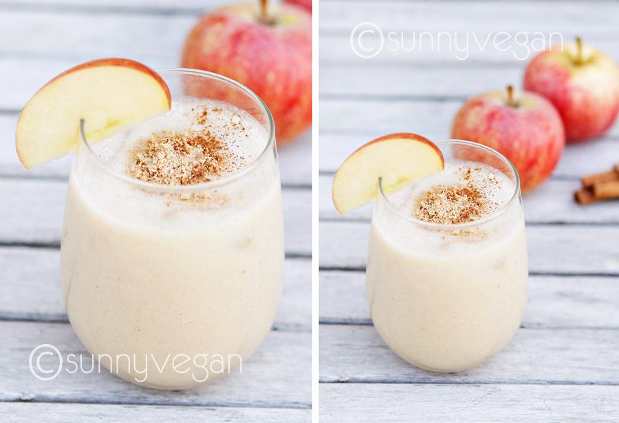 vegan apple pie smoothie recipe easy and healthy