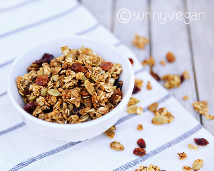 homemade pumpkin easy and healthy granola