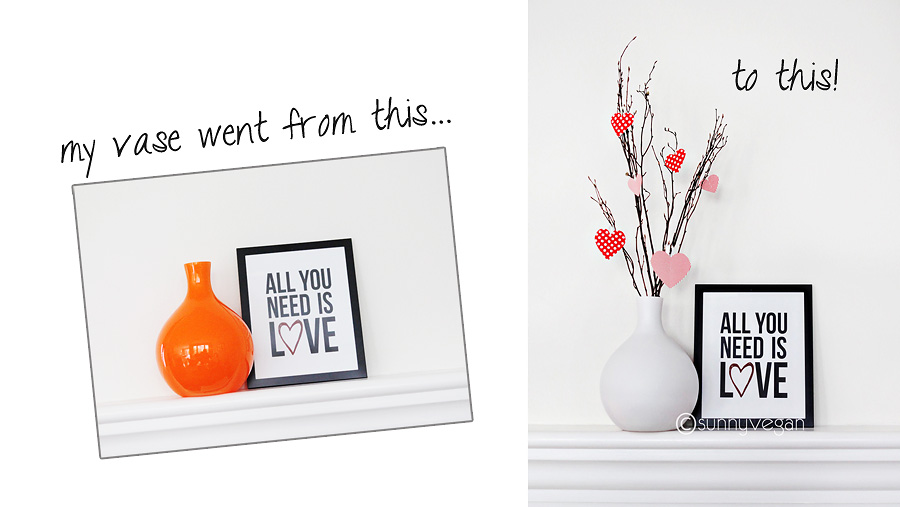 vase paint white black before and after with valentines day freebie