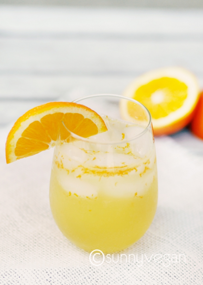 all natural orange soda drink by sunny vegan