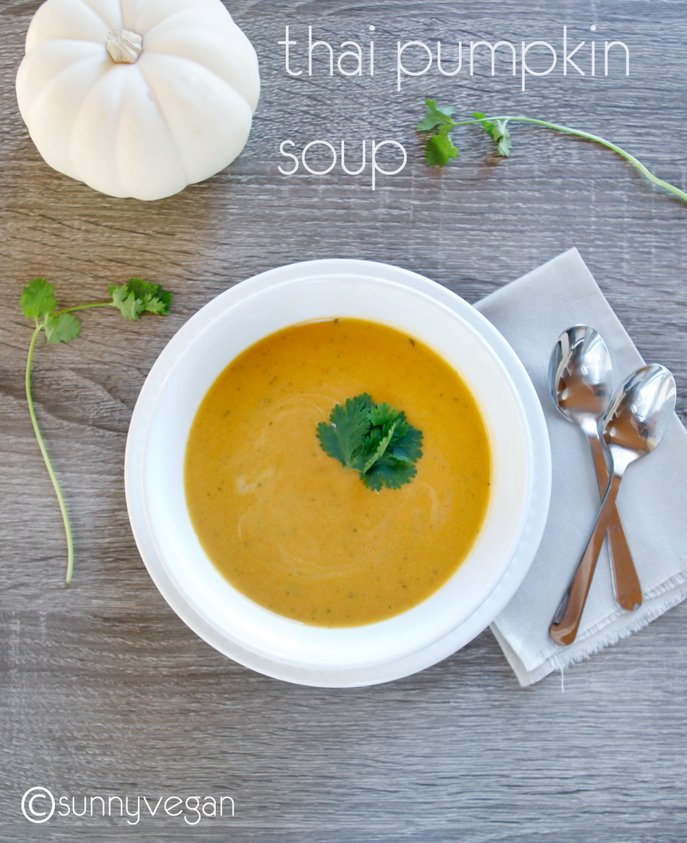 thai pumpkin soup recipe from sunny vegan