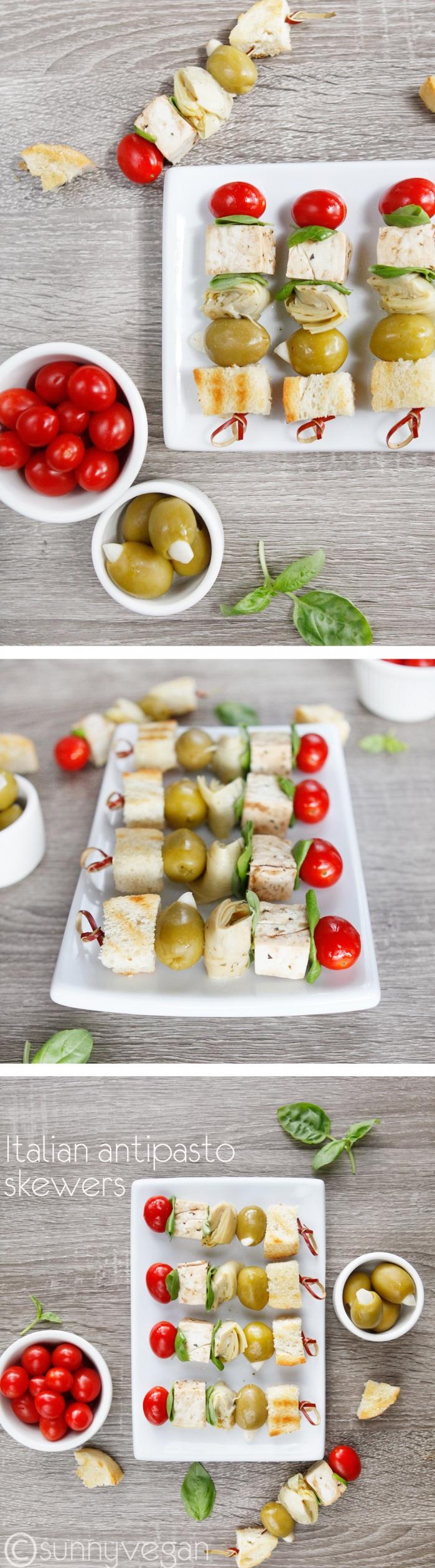 tailgate antipasto skewer recipe from sunny vegan